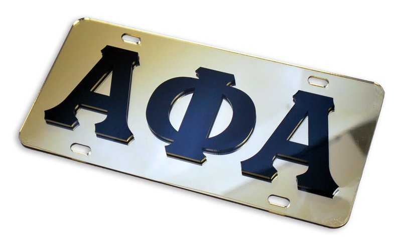 Alpha Phi Alpha Mirrored License Plate Cover