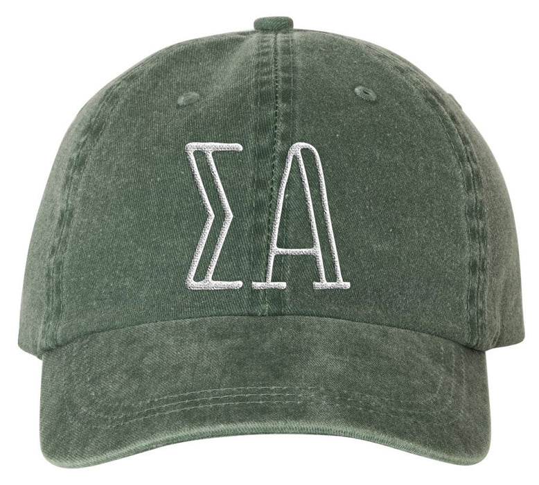 Sigma Alpha Sorority Greek Carson Embroidered Hat