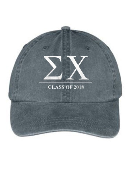 Sigma Chi Embroidered Hat with Custom Text