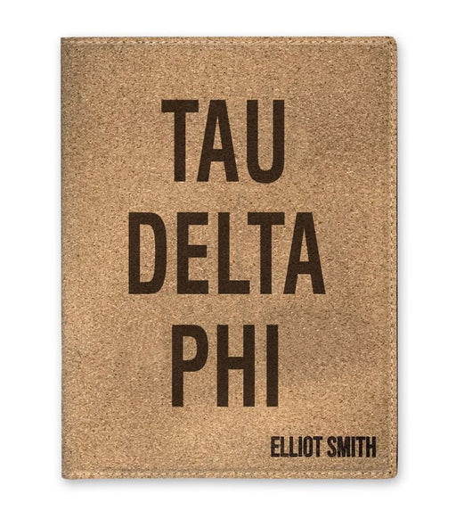 Tau Delta Phi Cork Portfolio with Notepad