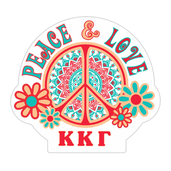 Kappa Kappa Gamma Peace Sticker