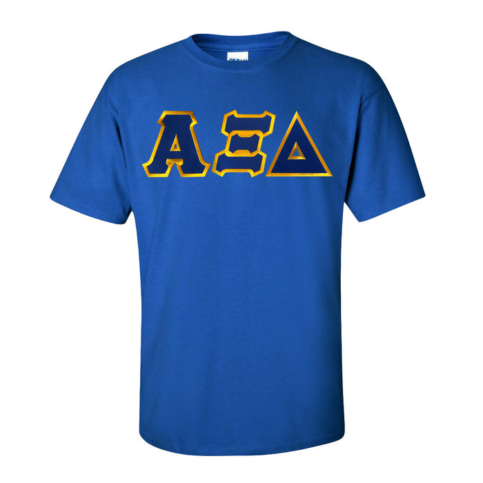 Alpha Xi Delta Lettered T Shirt