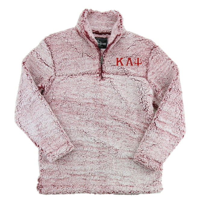 Kappa Alpha Psi Embroidered Sherpa Quarter Zip Pullover