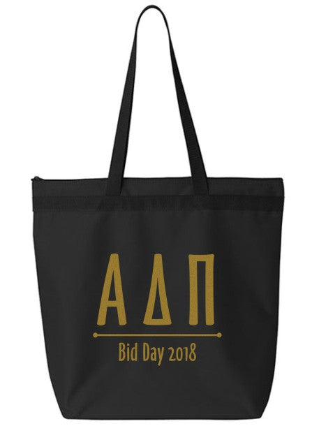 Alpha Delta Pi Oz Letters Event Tote Bag
