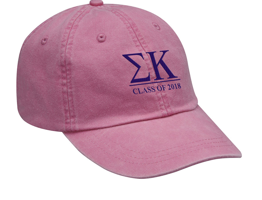 Sigma Kappa Embroidered Hat with Custom Text