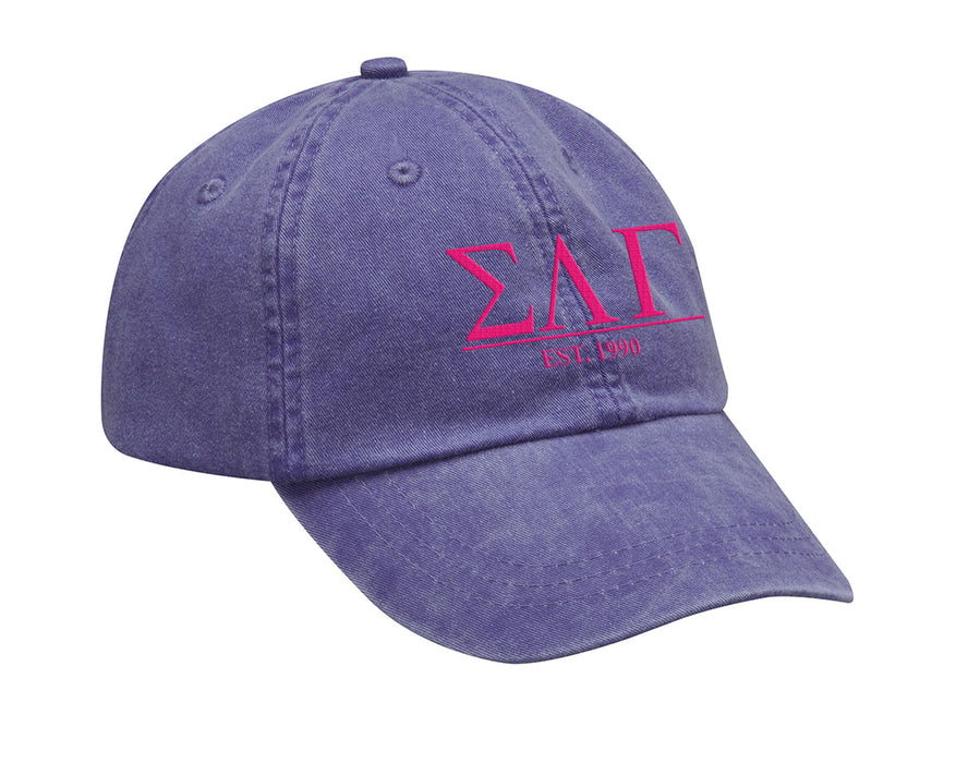 Sigma Lambda Gamma Letters Year Embroidered Hat