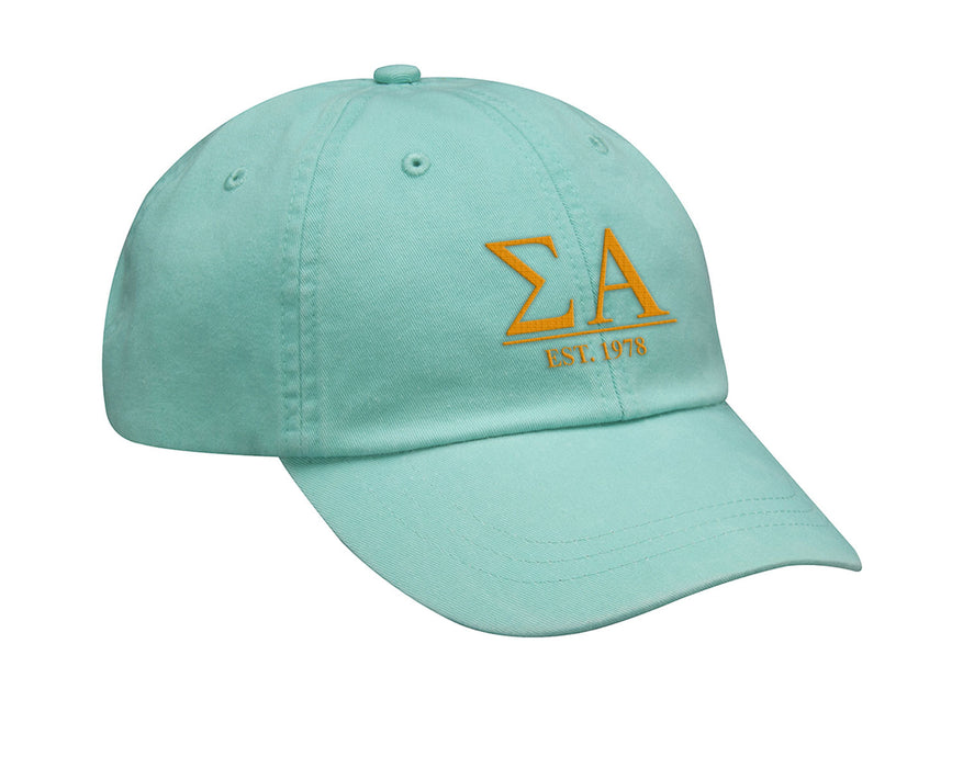 Sigma Alpha Letters Year Embroidered Hat