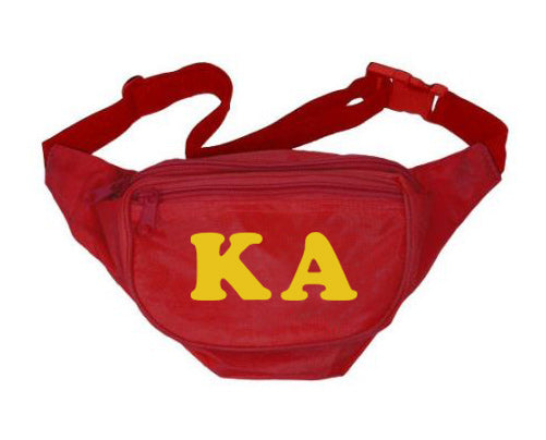 Kappa Alpha Letters Layered Fanny Pack