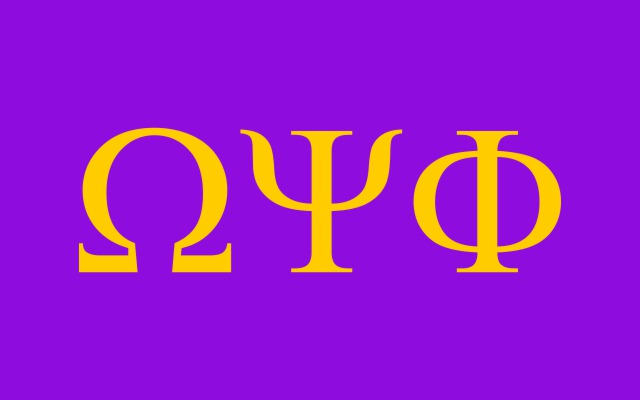 Omega Psi Phi Fraternity Flag Sticker