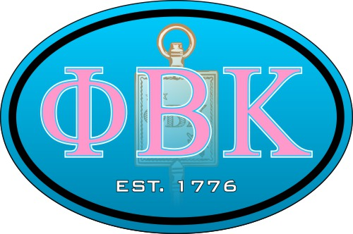 Phi Beta Kappa Color Oval Decal