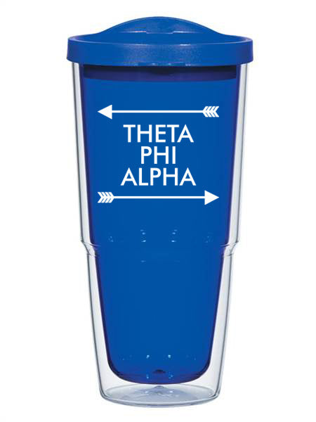 Theta Phi Alpha Arrow Top Bottom 24oz Tumbler with Lid