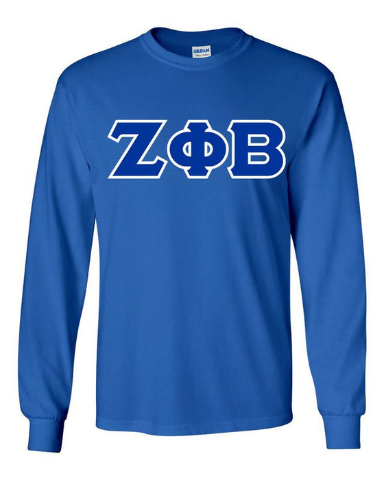 Zeta Phi Beta Long Sleeve Greek Lettered Tee