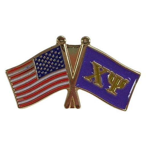 Chi Psi USA / Fraternity Flag Pin