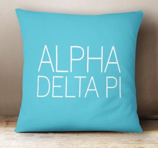Alpha Delta Pi Simple Text Throw Pillow