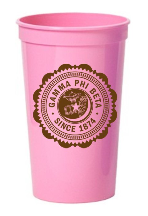 Gamma Phi Beta Classic Oldstyle Giant Plastic Cup