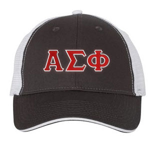 Alpha Sigma Phi Greek Trucker Cap