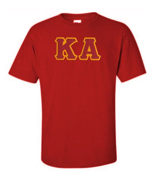 Kappa Alpha Short Sleeve Crew Shirt with Sewn-On Letters