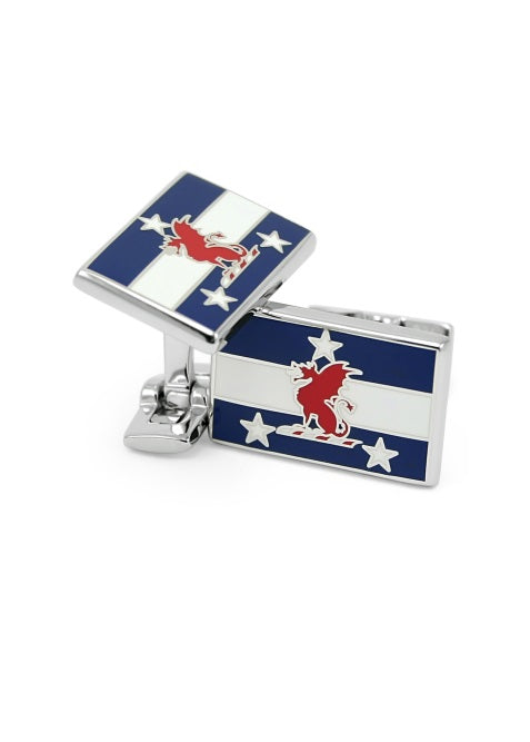 Beta Theta Pi Silver Flag Cufflinks