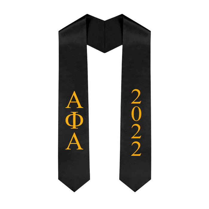 Alpha Phi Alpha Vertical Grad Stole with Letters & Year