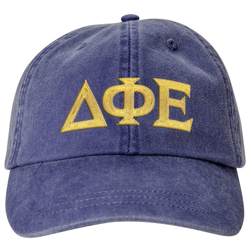 Delta Phi Epsilon Greek Letter Embroidered Hat