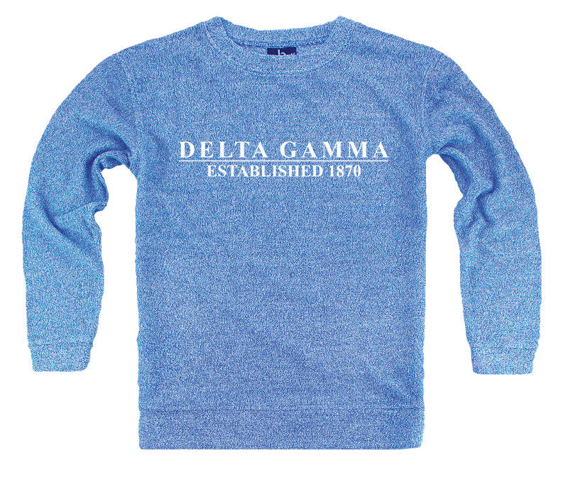 Delta Gamma Year Established Cozy Sweater