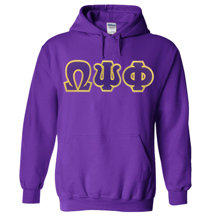 Omega Psi Phi Lettered Hoodie