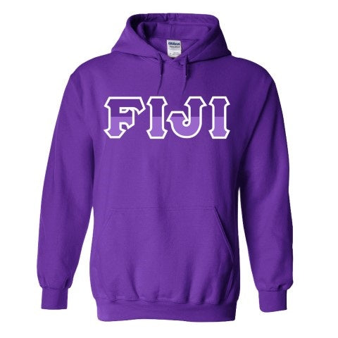 Phi Gamma Delta Two Toned Lettered Hooded Sweatshirt