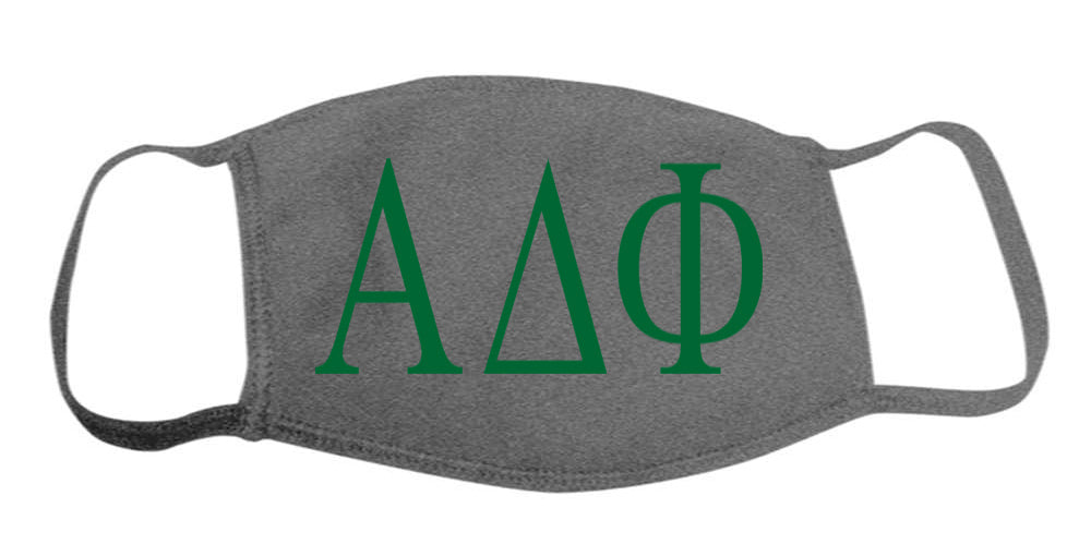 Alpha Delta Phi Face Mask With Big Greek Letters