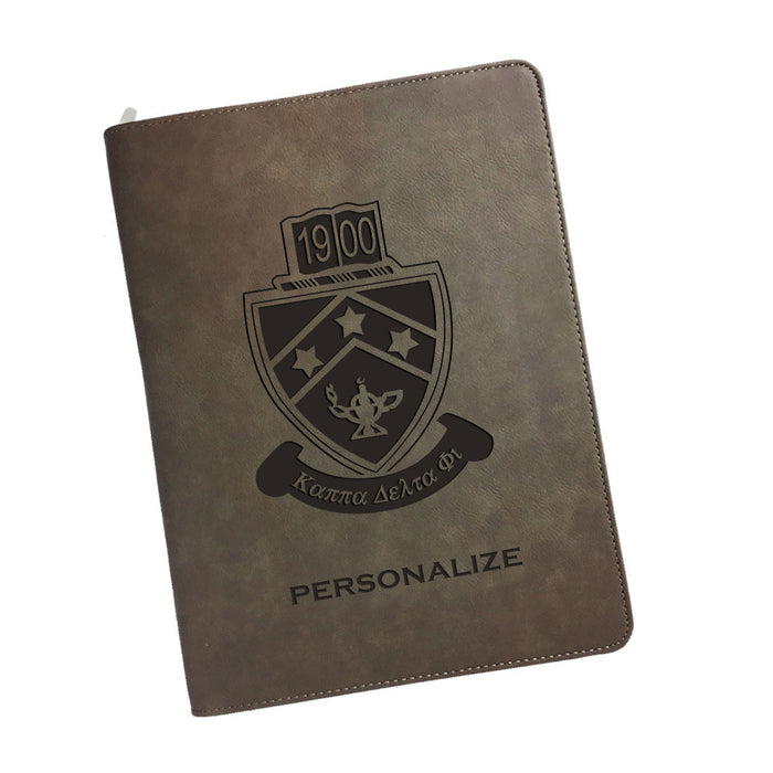 Kappa Delta Phi Leatherette Portfolio with Notepad