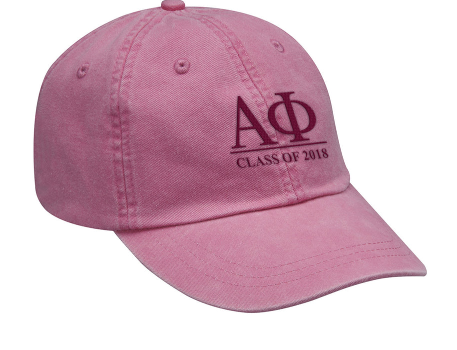 Alpha Phi Embroidered Hat with Custom Text