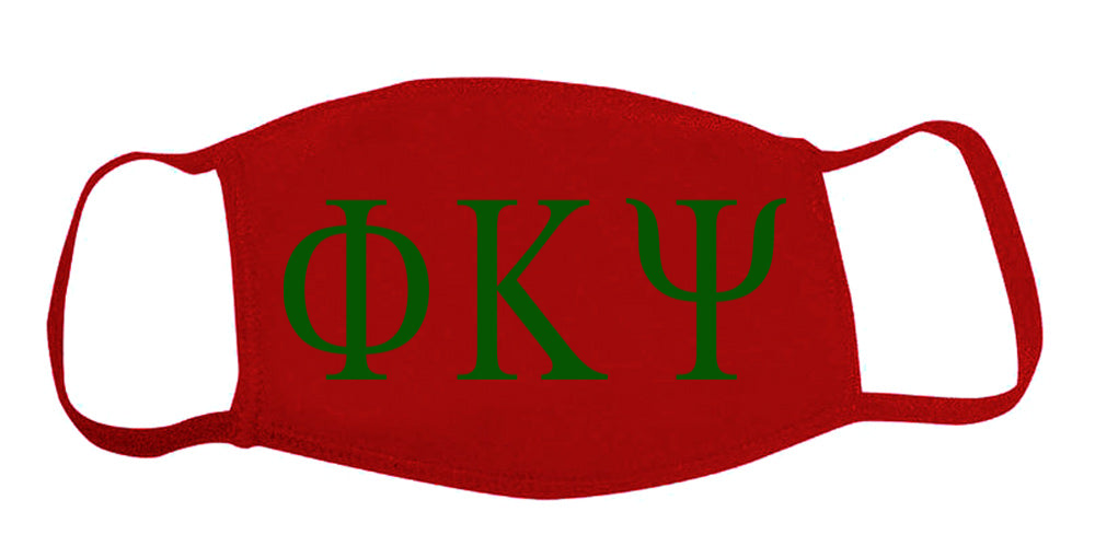 Phi Kappa Psi Face Mask With Big Greek Letters