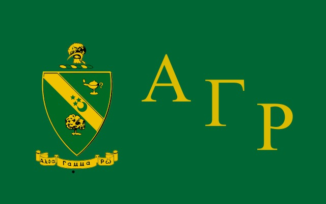 Alpha Gamma Rho Fraternity Flag Sticker
