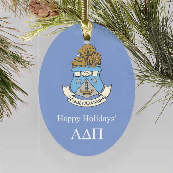 Alpha Delta Pi Color Crest Ornament