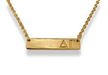 Delta Gamma Bar Necklace