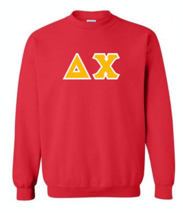 Delta Chi Classic Colors Sewn-On Letter Crewneck