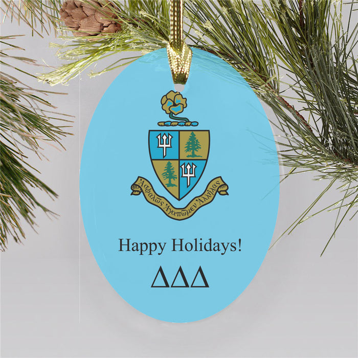 Delta Delta Delta Color Crest Ornament