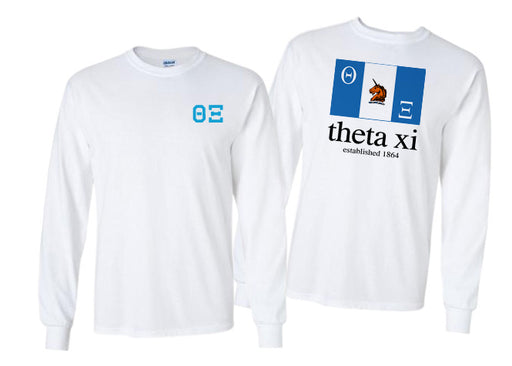 Theta Xi Long Sleeve Flag Tee