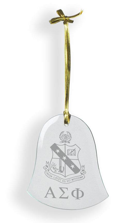 Alpha Sigma Phi Glass Bell Ornament