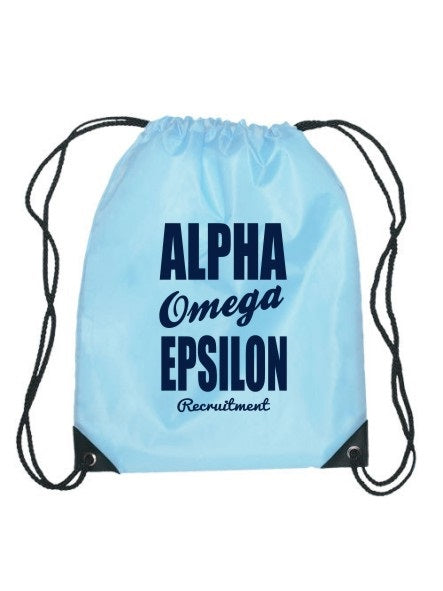 Alpha Omega Epsilon Cursive Impact Sports Bag