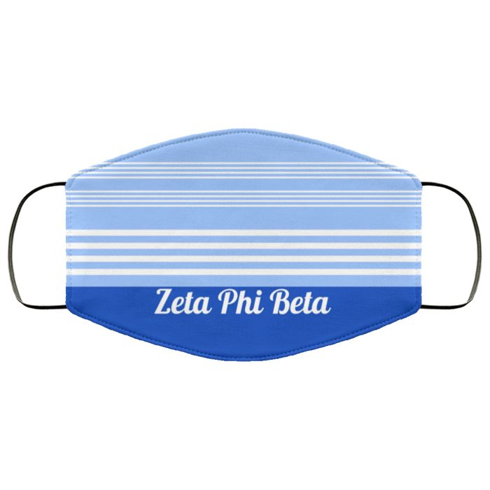 Zeta Phi Beta Two Tone Stripes Face Mask Zeta Phi Beta Two Tone Stripes Face Mask