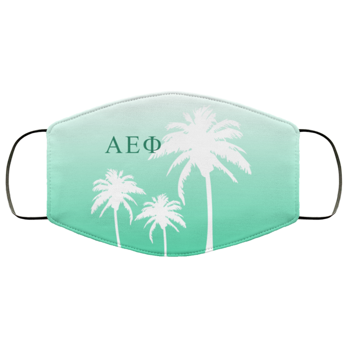 Alpha Epsilon Phi Palm Trees Face Mask Alpha Epsilon Phi Palm Trees Face Mask