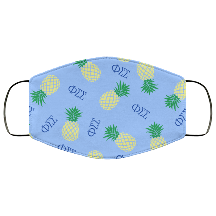 Phi Sigma Sigma Pineapples Face Mask Phi Sigma Sigma Pineapples Face Mask