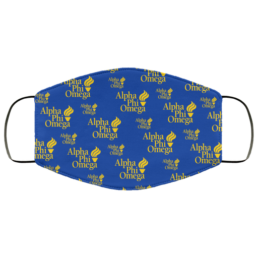 Alpha Phi Omega Blue Torch Face Mask