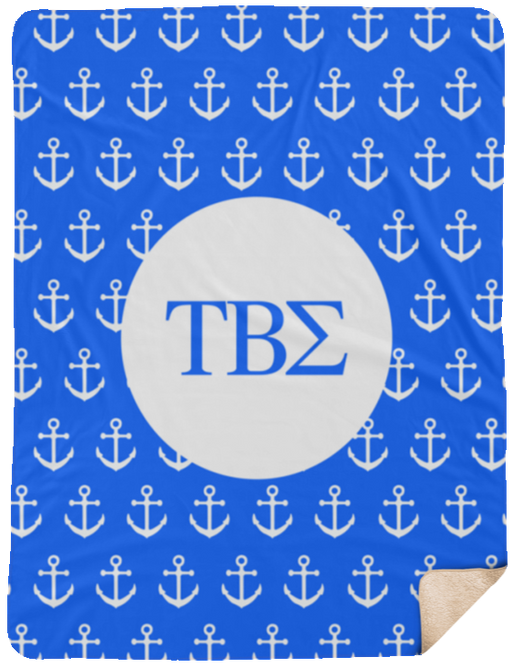 Tau Beta Sigma Anchor Sherpa Blanket - 60x80