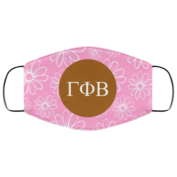 Gamma Phi Beta Daisies Face Mask Gamma Phi Beta Daisies Face Mask