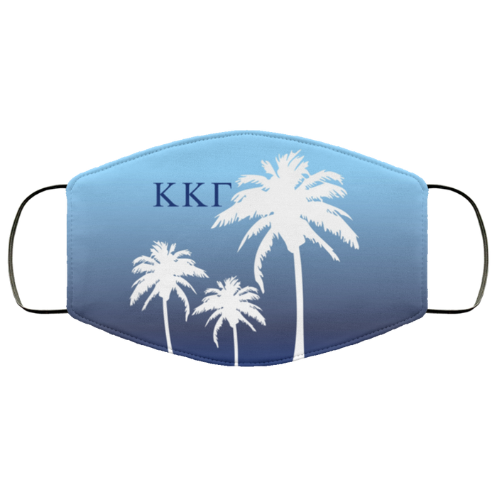 Kappa Kappa Gamma Palm Trees Face Mask Kappa Kappa Gamma Palm Trees Face Mask