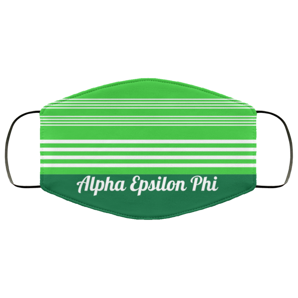 Alpha Epsilon Phi Two Tone Stripe Face Mask Alpha Epsilon Phi Two Tone Stripe Face Mask