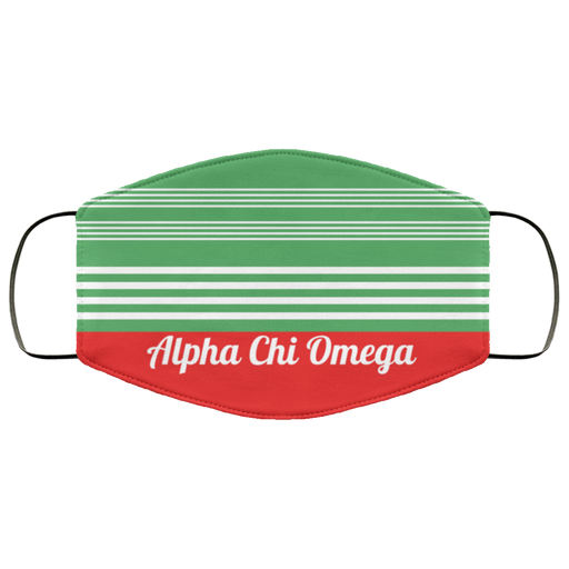Alpha Chi Omega Two Tone Stripes Face Mask