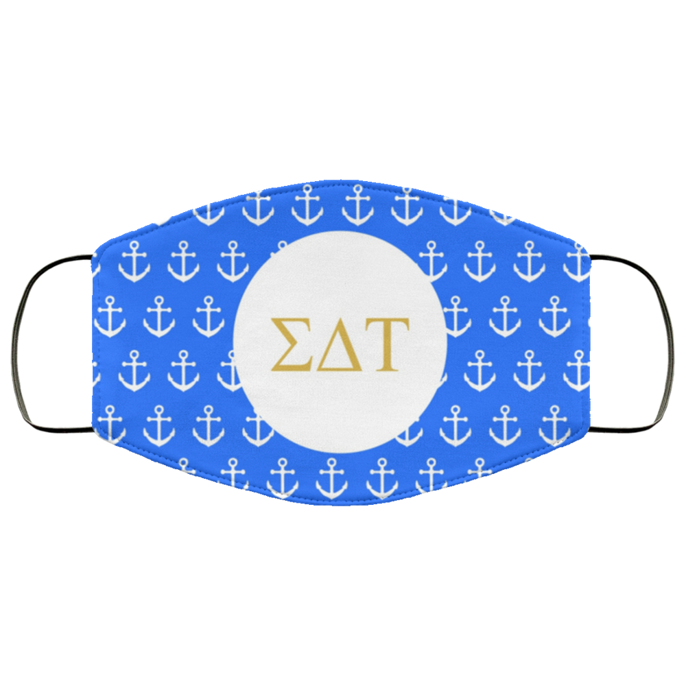 Sigma Delta Tau Anchors Face Mask Sigma Delta Tau Anchors Face Mask