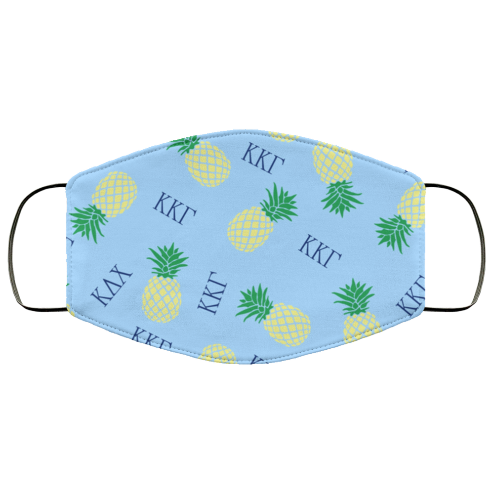 Kappa Kappa Gamma Pineapples Face Mask Kappa Kappa Gamma Pineapples Face Mask